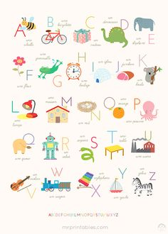french alphabet poster