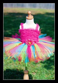 Rainbow Birthday Tutu  Customize tutu size by sweetlollipopkisses, $31.99