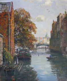Wijnhaven vanaf Wijnbrug, Daan Muehlhaus, 1907-1981