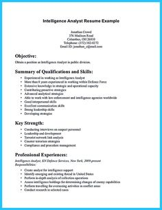 Intelligence Analyst Resume Business Analyst Resume Describes The Skills And Expertise Of .