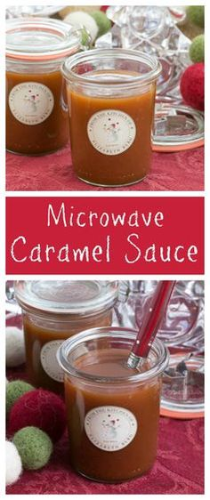 The easiest Caramel Sauce EVER! Perfect for drizzling on ice cream, desserts and a fantastic holiday or hostess gift. thatskinnychickcanbake.com @lizzydo