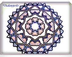 pattern bead weaving doily of 32 cm with seed bead # 6 seed bead # 8 - 25 cm Danish weaving technique is really simple, it s act to learn the symbols that rehearsals row after row going round .for placemats, you follow the symbols and the color shown in the tutorial. In addition you will receive technical included during your first purchase, this is to make a small doily 3 colors and voila! Then you can make all the models send PDF download