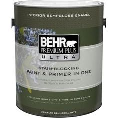 BEHR Premium Plus Ultra 1 gal. Ultra Pure White Semi-Gloss Enamel Interior Paint 375001 at The Home Depot - Mobile