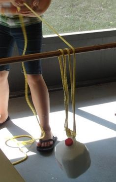 Simple Machines Pulley - Yes, I need to do this with a broom stick!!!