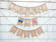 Humorous Gender Reveal Party Ideas   Halfpint Design - Wheels or Heels? Monster trucks and high heels are a hilarious combination if you ask me.