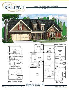 Reliant homes the addison plan floor plans homes for Reliant homes floor plans