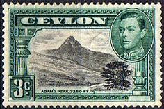 Ceylon 1938 King George VI SG 387b Adams Peak Fine Mint SG 387b Scott 278c Condition Fine LMM Only one post charge applied on multiple purchases
