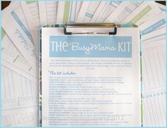 Busy Mama Kit - Clean Mama Printables - keep track of all the details!