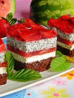 Ciasto arbuzowo - truskawkowe