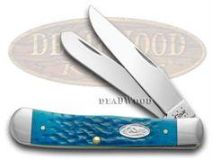 CASE XX Jigged Pacific Blue Bone Trapper Pocket Knife - CA26010 | 26010 - 021205260105