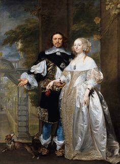 1662 Married Couple in the Park attributed to Gonzales Coques (Staatliche Museen zu Berlin) | Grand Ladies | gogm