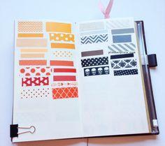 Washi Tapes: Orange, Red, Neutrals