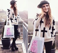 iAnyWear Cross Pattern Sweater | The key to failure is tyring to please everyone. (GIVEAWAY!) (by Jessica Christ) | LOOKBOOK.nu