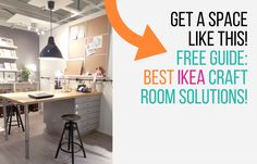 IKEA Craft Rooms - real rooms that we pick apart, telling you how they did it! http://www.jenniferppriest.com/ikea-craft-rooms/