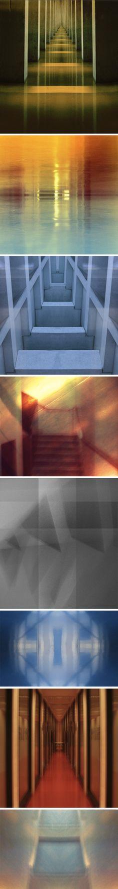 Simon P Laurent explore les frontières entre la peinture, la photographie et les arts graphique, dans une vision très expérimentale. Cette série lui a été commandée par le directeur de l'École d'architecte de Nancy, Lorenzo Diez.