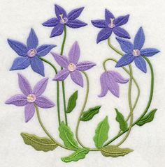 Royal Bluebell design (J7173) from www.Emblibrary.com