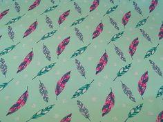 Stoff Sterne - Jersey Feder mint - ein Designerstück von 25cm bei DaWanda