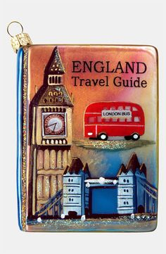 England Travel Guide Ornament