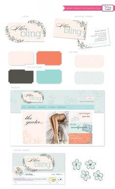 I Thee Bling Branding Identity Board, created by The Savvy Socialista