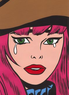Pink hair pop art art for art sake, all art, retro pop, pop Art And Illustration, Illustrations, Comic Books Art, Comic Art, Pop Art Girl, Art Pop, Art Tumblr, Pop Art Women, Retro Pop