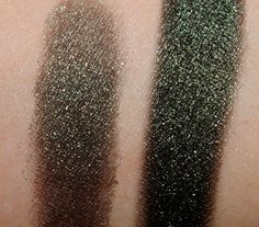 MAC Smutty Green Mineralize Eyeshadow Dry and wet application
