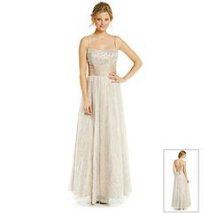Product: Cachet® Strapped Beaded Glitter Gown  $139 bonton