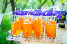 popsicles in the cocktails - wedding beverages