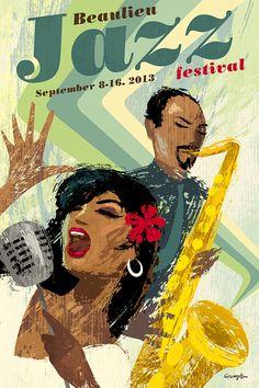 Jazz poster by Michael Crampton.