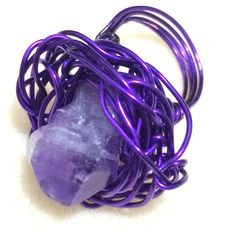 Amethyst art wire ring. RHY Collection. 11 Aug 2014.