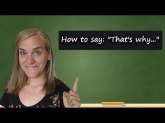 "German Lesson (322) - How to Say ""That's why"" - deswegen • deshalb • darum • daher - B1/B2 - YouTube German, Messages, Feelings, Sayings, Learning, Youtube, Deutsch, German Language, Lyrics"