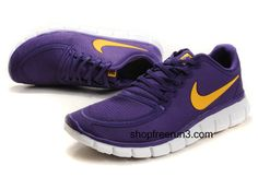 Womens Nike Free Run 5.0V4 Purple Yellow