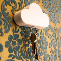 Fashion Style Creative Home Storage Holder White Cloud Shape Magnetic  Magnets Key Holder #20 2016