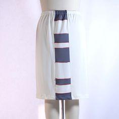 Matte Jersey Cream Patchwork Shrt Skirt