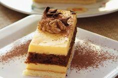 Orechové rezy Tiramisu, Cheesecake, Goodies, Pudding, Ethnic Recipes, Sweet, Desserts, Food, Hampers