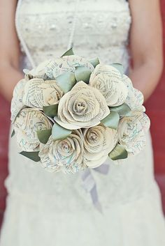 I'm doing something very similar for my bouquet!