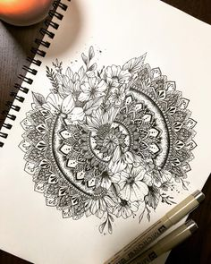 "429 Likes, 14 Comments - دانا جيزيل (@giselleartt) on Instagram: ""✨ . . #mandala #zen #zentangle #flowers #drawing #mandalatattoo #tattoo #sketch #drawing…"""