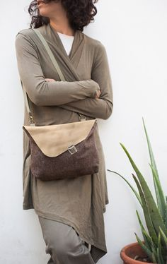 Hand Bag, Cross body bag, Purse with flap, Small messenger bag, Back to school by NagaLab on Etsy