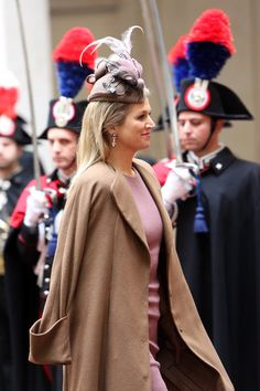 Queen Maxima of the Netherlands arrives at Palazzo Chigi during a meeting with Italian Prime Minister Enrico Letta on January 23, 2014 in Rome, Italy.