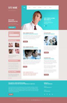 http://www.alltemplateneeds.com/ #webdesign #flat #Blue #peach