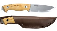The New Helle Utvaer is a beautifully balanced full tang knife with a mid size handle that features a wide blade with a swept belly - perfect for skinning, bushcraft or rugged outdoor use.