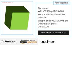 Amazon Payments Add-On WordPress Plugin for 3D Printing Price Calculator