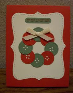 Could use real buttons as well... Indiana Inker: Handmade Cards