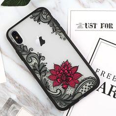 Black Pink lace iPhone x case #iphonexcase,