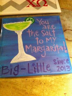 mollie's mom big/little reveal sorority craft chi omega