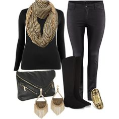"""All Black - Plus Size"" by alexawebb on Polyvore"