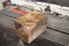 How to: Make a DIY Reclaimed Wood Storage Box from a Wooden Block | Man Made DIY | Crafts for Men | Keywords: woodworking, how-to, reclaimed, storage