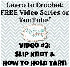 slip knot and holding yarn