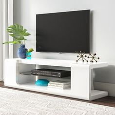 online shopping for Shropshire TV Stand TVs 75 Ebern Designs from top store. See new offer for Shropshire TV Stand TVs 75 Ebern Designs Led Tv Stand, Floating Tv Stand, Tv Stands, Glass Tv Stand, Wall Mounted Media Console, Mounted Tv, Console Tv, Glass Furniture, Living Room Furniture
