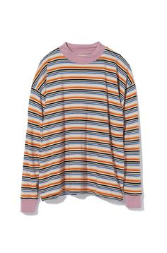 Casual crew neck top from Urban Outfitters in a soft striped cotton fabric. Cut in a perfectly oversized fit with dropped long sleeves and ribbed banding at the crewneck and cuffs. Get it only at UO. Content  Care    Cotton     Machine wash    Imported   Size  Fit    Model in Black is 58 and wearing size Medium    Measurements taken from size Medium      Chest 45     Length 27 Urban Outfitters Clothes, Cotton Fabric, Fitness Models, Crew Neck, How To Get, Cuffs, Content, Long Sleeve, Casual