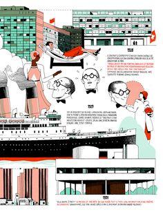 Le Corbusier / Biography - Télérama Special on Behance